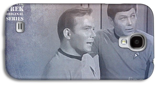 Enterprise Mixed Media Galaxy S4 Cases - Star Trek Kirk and McCoy Galaxy S4 Case by Pablo Franchi