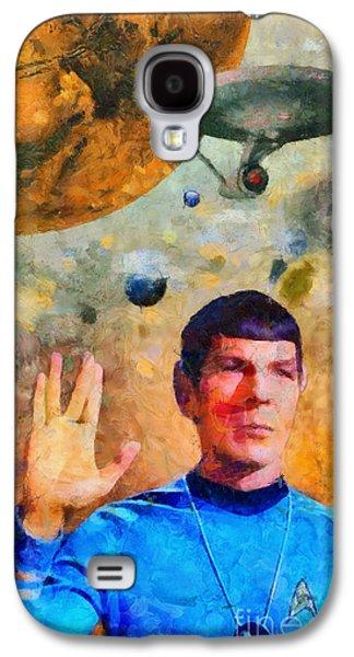 Recently Sold -  - Enterprise Galaxy S4 Cases - Star Trek-Leonard Nimoy Galaxy S4 Case by Elizabeth Coats