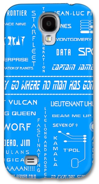 Enterprise Galaxy S4 Cases - Star Trek Remembered in Blue Galaxy S4 Case by Nomad Art And  Design