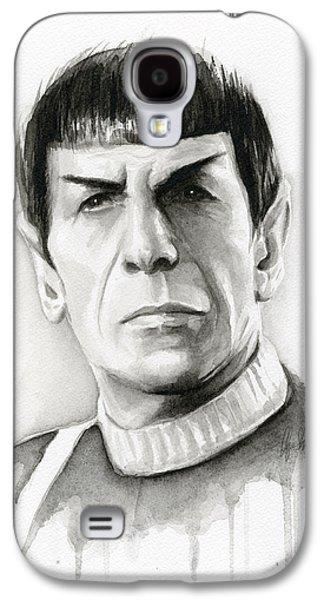 Science Fiction Paintings Galaxy S4 Cases - Star Trek Spock Portrait Galaxy S4 Case by Olga Shvartsur