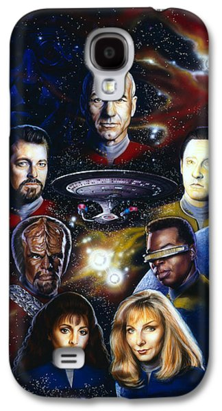 Science Fiction Paintings Galaxy S4 Cases - Star Trek TNG Galaxy S4 Case by Tim  Scoggins