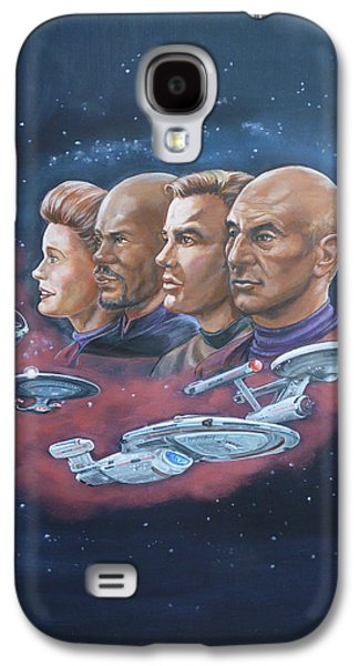 Kirk Galaxy S4 Cases - Star Trek tribute Captains Galaxy S4 Case by Bryan Bustard