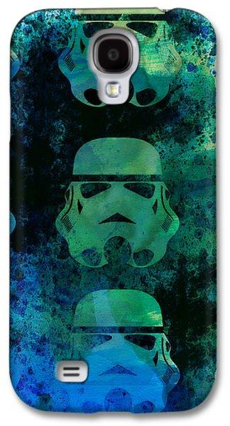 Star Warriors Watercolor 1 Galaxy S4 Case by Naxart Studio
