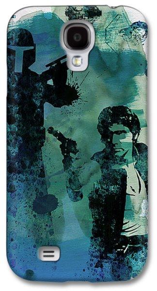 Star Warriors Watercolor 2 Galaxy S4 Case by Naxart Studio