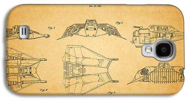 Science Fiction Photographs Galaxy S4 Cases - Star Wars - Space Craft Patent Galaxy S4 Case by Mark Rogan