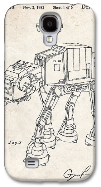 At Poster Mixed Media Galaxy S4 Cases - Star Wars At-At Imperial Walker Patent Art Galaxy S4 Case by Stephen Chambers