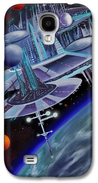 Stellar Paintings Galaxy S4 Cases - Starbase I - Alisona  Galaxy S4 Case by James Christopher Hill
