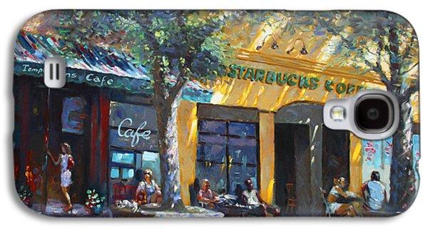 Main Street Galaxy S4 Cases - Starbucks Hangout Nyack NY Galaxy S4 Case by Ylli Haruni