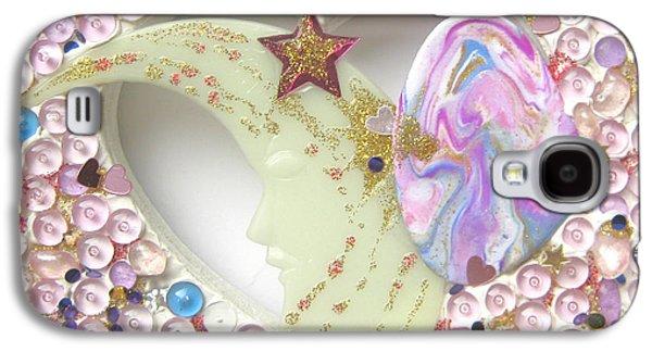 Girl Reliefs Galaxy S4 Cases - Starchild spreading stardust Galaxy S4 Case by Heidi Sieber