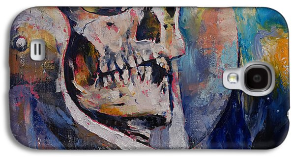 Trippy Paintings Galaxy S4 Cases - Stardust Galaxy S4 Case by Michael Creese
