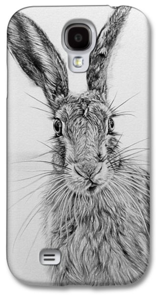 March Hare Galaxy S4 Cases - Stare of the Hare Galaxy S4 Case by Frances Vincent