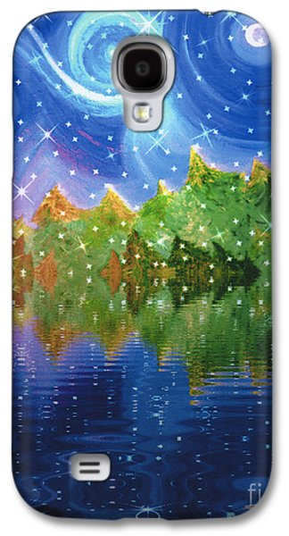 Abstract Digital Mixed Media Galaxy S4 Cases - Starfall Galaxy S4 Case by First Star Art