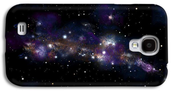 Jet Star Mixed Media Galaxy S4 Cases - Starfield No.122712 Galaxy S4 Case by Marc Ward