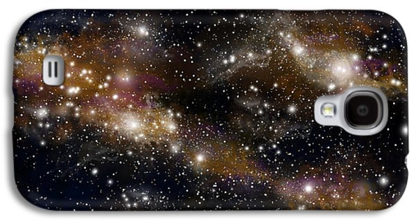 Jet Star Mixed Media Galaxy S4 Cases - Starfield No.31314 Galaxy S4 Case by Marc Ward