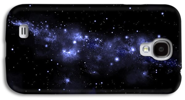 Jet Star Mixed Media Galaxy S4 Cases - Starfield No.51713 Galaxy S4 Case by Marc Ward
