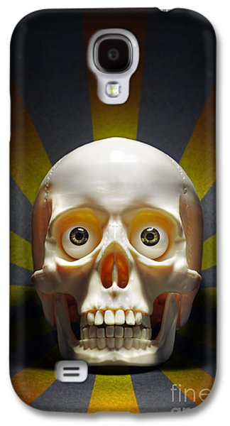 Physiology Galaxy S4 Cases - Staring Skull Galaxy S4 Case by Carlos Caetano