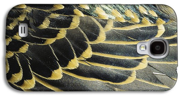 Nature Abstracts Galaxy S4 Cases - Starling Feathers Galaxy S4 Case by William H. Mullins
