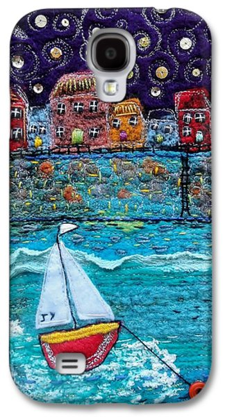 Transportation Tapestries - Textiles Galaxy S4 Cases - Starlit Harbour Galaxy S4 Case by Janice MacDougall
