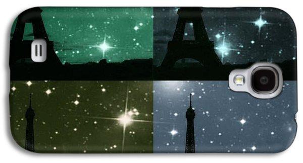 Dream Scape Galaxy S4 Cases - Starry Night - Eiifel Tower Paris Galaxy S4 Case by Marianna Mills