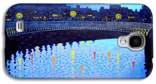 Impressionism Acrylic Prints Galaxy S4 Cases - Starry Night In Dublin VI Galaxy S4 Case by John  Nolan