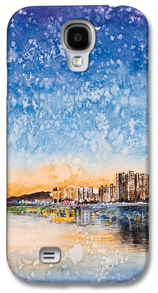 Sha Galaxy S4 Cases - Starry night Galaxy S4 Case by Perry Chow