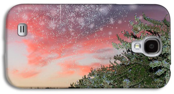 Amazing Sunset Galaxy S4 Cases - Starry Sunset Galaxy S4 Case by Augusta Stylianou