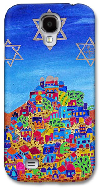 Purim Galaxy S4 Cases - Stars Above Jerusalem Galaxy S4 Case by Dawnstarstudios