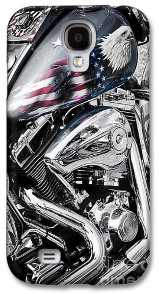 Stars And Stripes Harley  Galaxy S4 Case by Tim Gainey