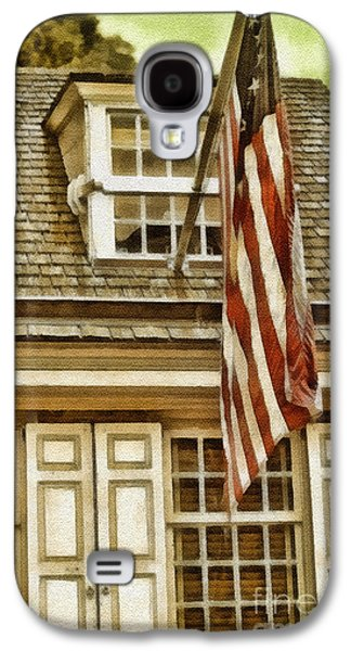4th July Paintings Galaxy S4 Cases - Stars and Stripes Galaxy S4 Case by Mo T