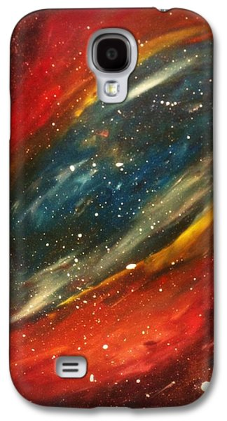 Constellations Paintings Galaxy S4 Cases - Stars Galaxy S4 Case by Crystal Starshine