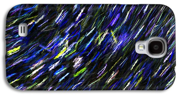 Abstract Digital Mixed Media Galaxy S4 Cases - Stars in the Night Sky Abstract 2 Galaxy S4 Case by Sharon  Talson