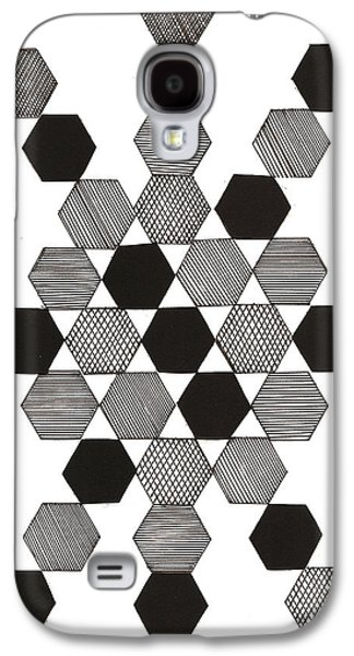 Abstract Collage Drawings Galaxy S4 Cases - Stars Galaxy S4 Case by MK Square Studio