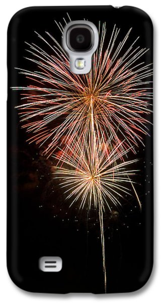 4th July Galaxy S4 Cases - Stars with trails Galaxy S4 Case by Devinder Sangha
