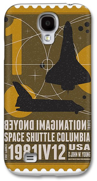 Science Fiction Galaxy S4 Cases - Starschips 01-poststamp - Spaceshuttle Galaxy S4 Case by Chungkong Art