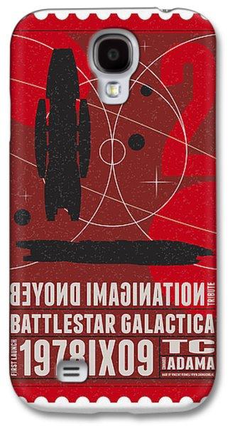 Starschips 02-poststamp - Battlestar Galactica Galaxy S4 Case by Chungkong Art