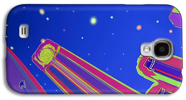 Abstract Digital Galaxy S4 Cases - Starscrapers Galaxy S4 Case by Wendy J St Christopher