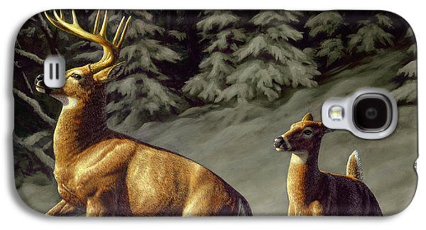Deer Galaxy S4 Cases - Startled - variation Galaxy S4 Case by Crista Forest