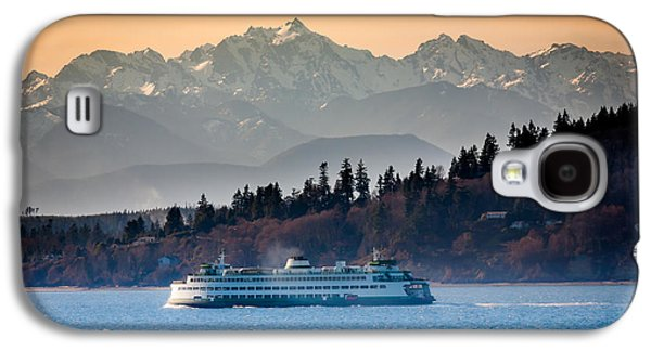 North America Galaxy S4 Cases - State Ferry and the Olympics Galaxy S4 Case by Inge Johnsson
