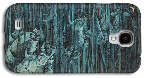 Green Galaxy S4 Cases - States Of Mind Those Who Stay, 1911 Oil On Canvas Galaxy S4 Case by Umberto Boccioni