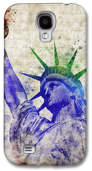 Statue Galaxy S4 Cases - Statue of Liberty Galaxy S4 Case by Aged Pixel