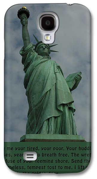 Tempest Galaxy S4 Cases - Statue of Liberty Inscription Galaxy S4 Case by National Park Service