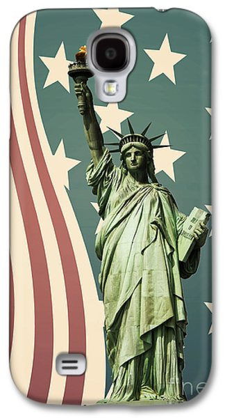 Statue Galaxy S4 Cases - Statue of Liberty Galaxy S4 Case by Juli Scalzi