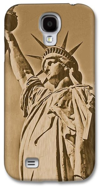 Statue Portrait Galaxy S4 Cases - Statue of Liberty - Lithograph 01 Galaxy S4 Case by Pamela Critchlow