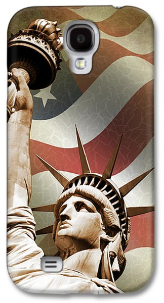 Statue Galaxy S4 Cases - Statue of Liberty Galaxy S4 Case by Mark Rogan