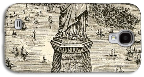 Statue Of Liberty, New York Galaxy S4 Case by American School