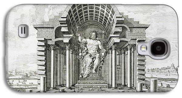 Male Drawings Galaxy S4 Cases - Statue of Olympian Zeus Galaxy S4 Case by Johann Bernhard Fischer von Erlach