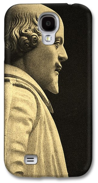 Marble Galaxy S4 Cases - Statue Of William Shakespeare 1564-1616 Stone Detail Galaxy S4 Case by English School