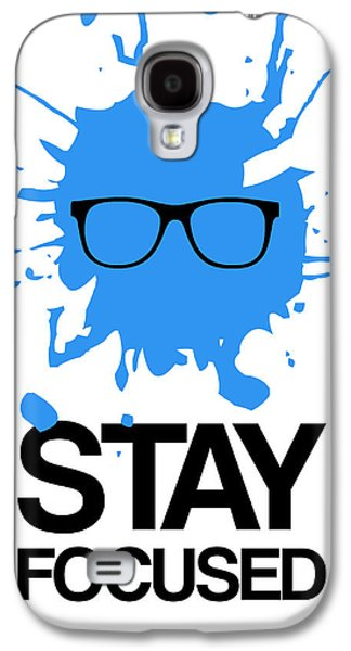 Boxes Galaxy S4 Cases - Stay Focused Splatter Poster 2 Galaxy S4 Case by Naxart Studio
