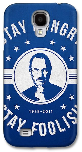 Stay Hungry Stay Foolish - Ice Blue Galaxy S4 Case by Aged Pixel