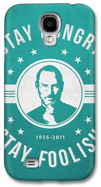 Stay Hungry Stay Foolish - Turquoise Galaxy S4 Case by Aged Pixel